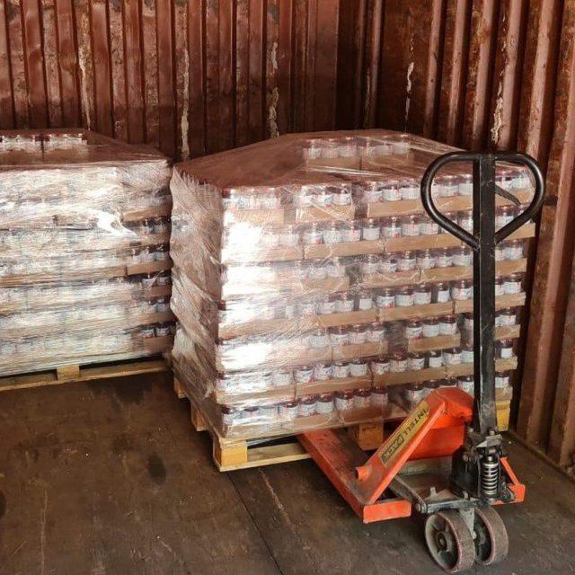 Погрузка 20-ки в Алма-Аты. Полный контейнер сладкого варенья. 😋😋😋